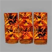 Natural AAA Golden Orange Sapphire 6 Pcs  FL