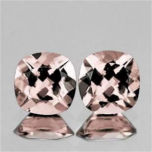 Natural Peach Pink Morganite Pair [VVS]