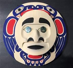 West Coast Native Moon Mask with Eagle Spirit