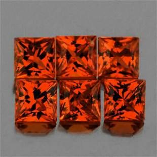 Natural  Intense AAA Orange Sapphire 6 pcs - FL