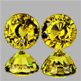 Natural AAA Canary Yellow Mali Garnet Pair{Flawless