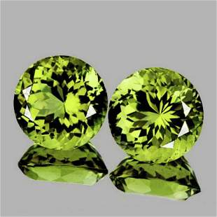 NATURAL AAA Green Yellow Mali Garnet Pair - FL