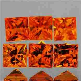Natural AAA Golden Orange Sapphire 6 Pcs - FL
