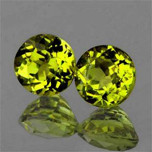 Ntural Canary Yellow Mali Garnet Pair{VVS}
