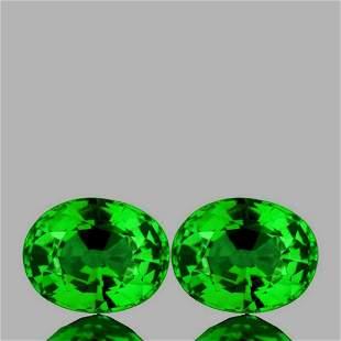 Natural Chrome Green Tsavorite Garnet Pair - FL