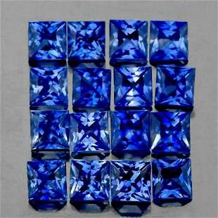 Natural Princess Blue Sapphire 16 Pcs [VVS]