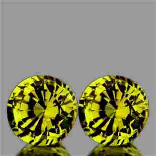 Natural Canary Yellow Mali Garnet Pair{Flawless-VVS}