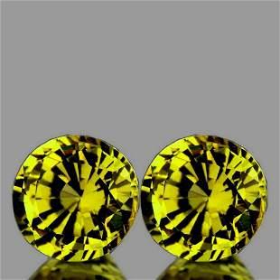 Natural Canary Yellow Mali Garnet Pair{Flawless-VVS}