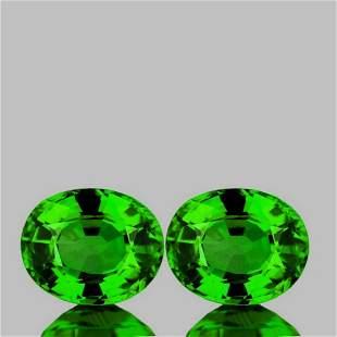 Natural  Chrome Green Tsavorite Garnet Pair -FL