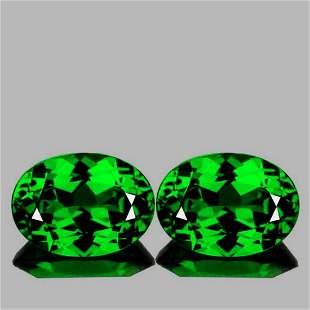 Natural Green Tsavorite Garnet Pair{Flawless-VVS}