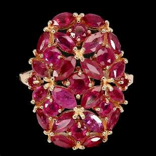 Natural Stunning Red Ruby Ring