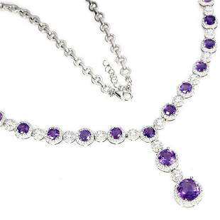 Natural Stunning Brazil Amethyst Necklace - Untreated