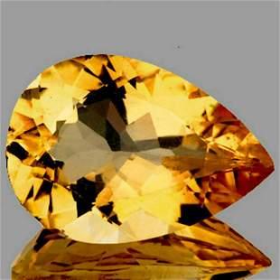 NATURAL GOLDEN YELLOW CITRINE 15x10 MM [FLAWLESS-VVS]