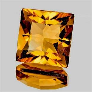 Natural Golden Yellow Citrine 12 MM [Flawless-VVS]