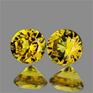 Natural Yellow Mali Garnet Pair{Flawless-VVS}