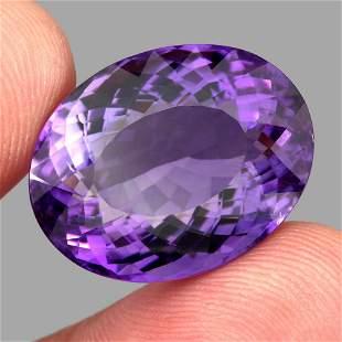 Natural Purple Amethyst 30.58 Cts - VVS