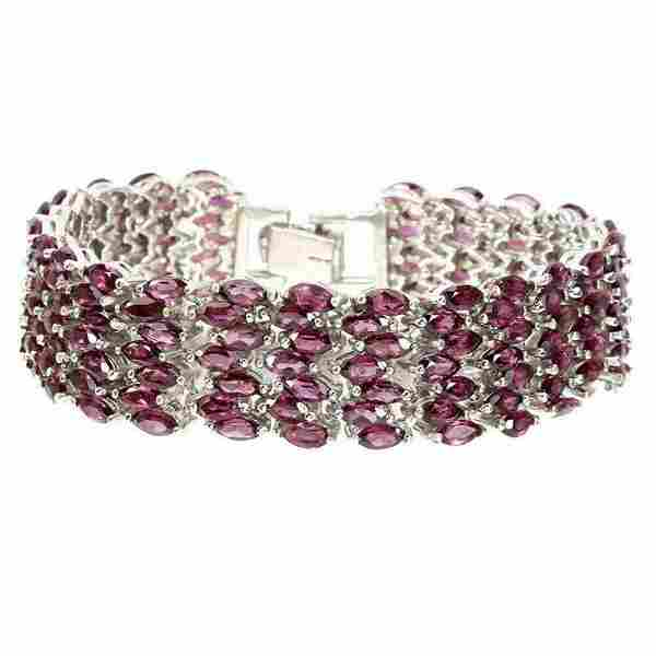 Natural Unheated Rhodolite Garnet 200 Cts Bracelet