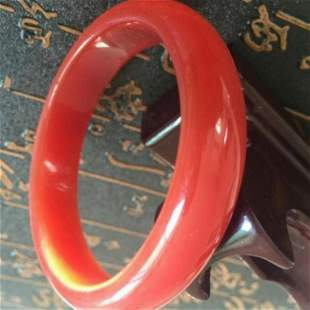 Chinese Jade Orange/Red Bangle