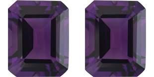 Purple Lab Amethyst Pair 15x12 MM Carats - VVS