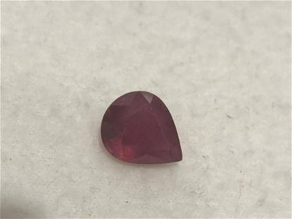 Natural Pear Red Ruby 4.97 Cts