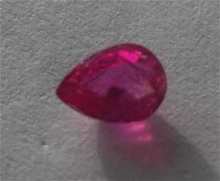 Natural Kashmir Ruby 0.655 carats - no Treatment