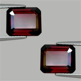 Natural AAA Deep Red Rhodolite Garnet Pair 11.77 Ct- FL