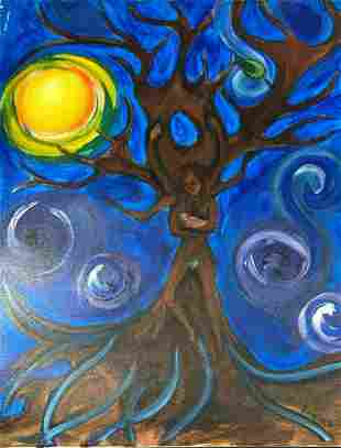 West Coast Native Original Tree of Life Painting