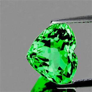 Natural Chrome Green Tsavorite Garnet Heart [VVS]