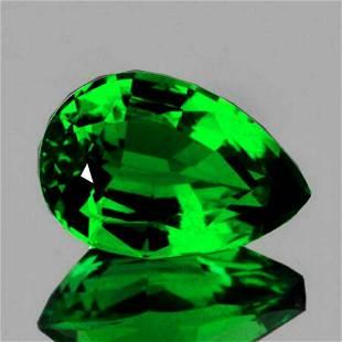 Natural Emerald Green Tsavorite Garnet 8x5 MMl{VS}