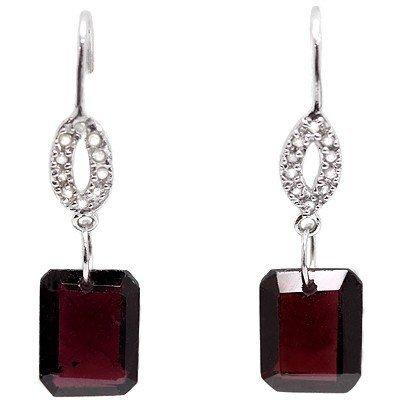 Natural persian Garnet & Diamond 8.37 Carats Earrings