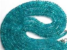 Natural Gem Neon Blue Apatite Necklace