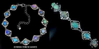 Natural Rainbow Color Opal Bracelet