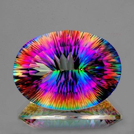 Natural Rainbow Mystic Topaz 34.08 Cts - VVS
