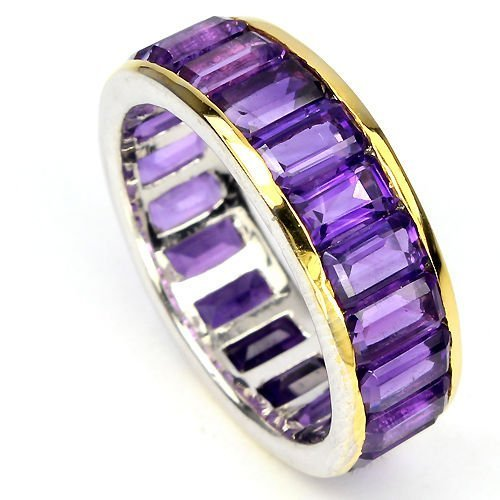 Natural Amethyst Eternity Band Ring