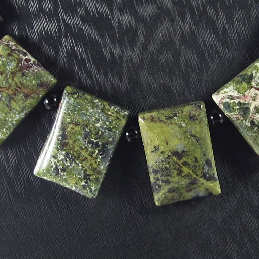 Natural Multi-Color Rhyolite Diamond Polished Necklace - 3