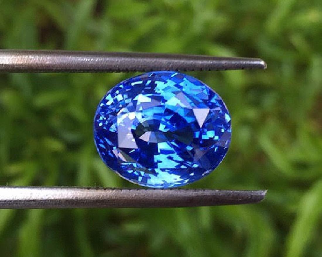 Natural Cornflower Blue Sapphire 6.65 Carats - GRS