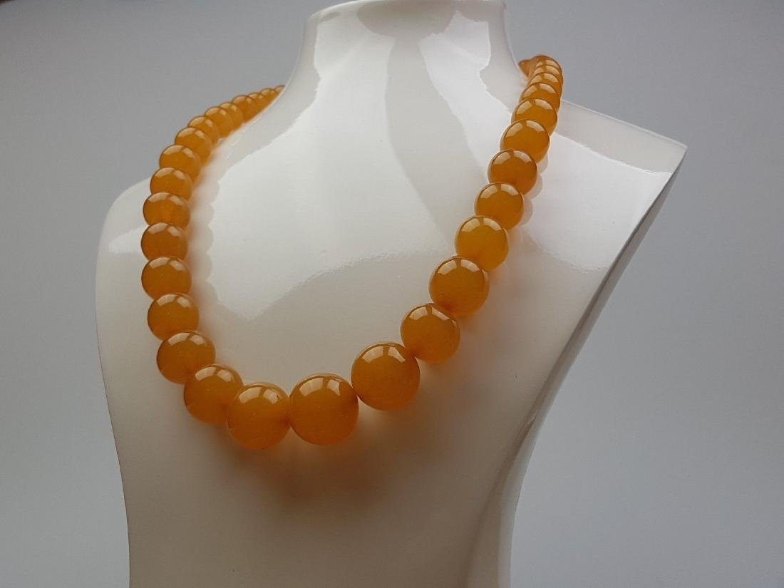 Vintage Natural Baltic Amber Beads Necklace 42.10 Grams