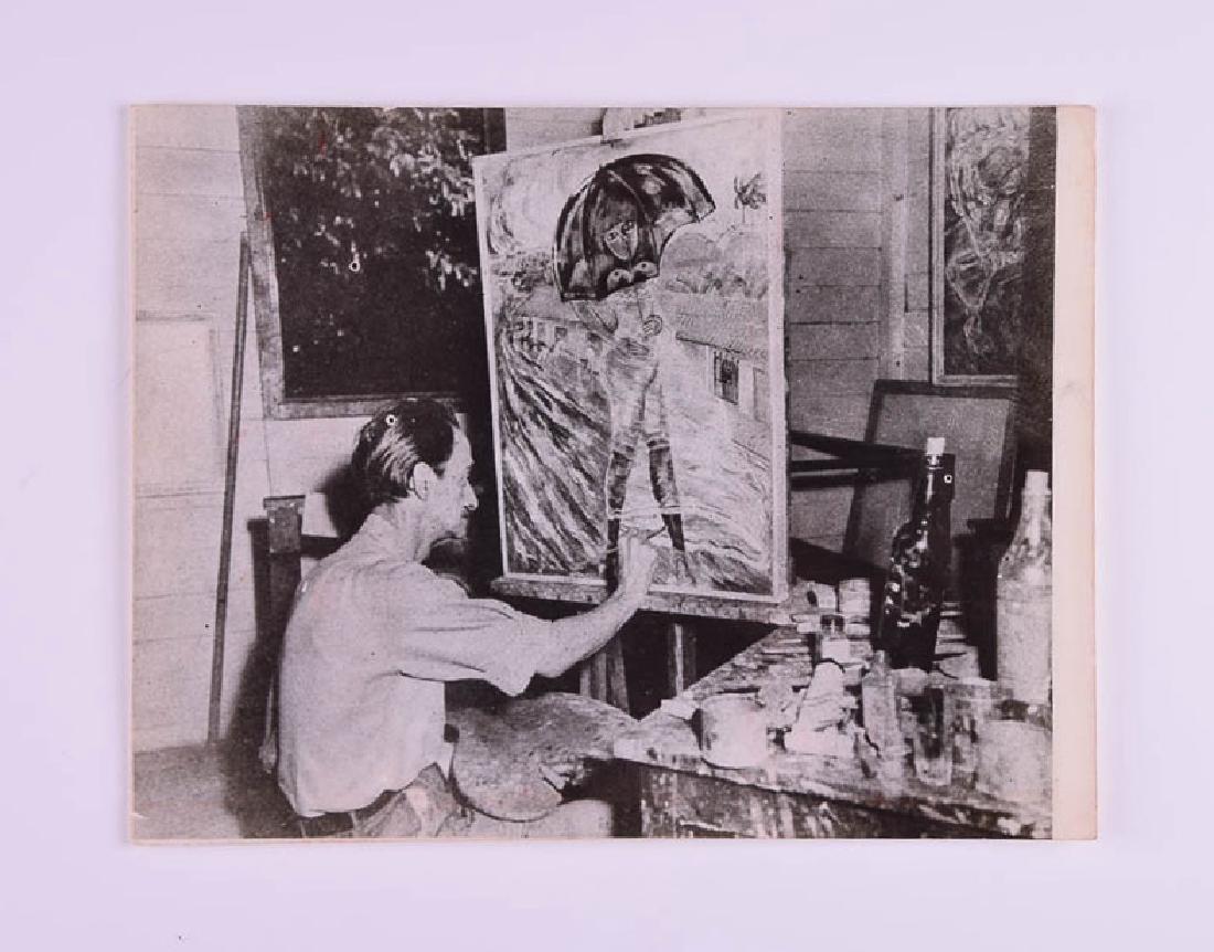 Carlos Enriquez - Artist painting La Lola