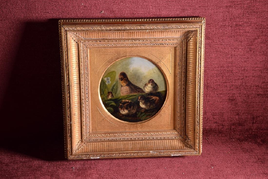 Arthur F. TAIT (1819-1905) vintage oil on panel birds