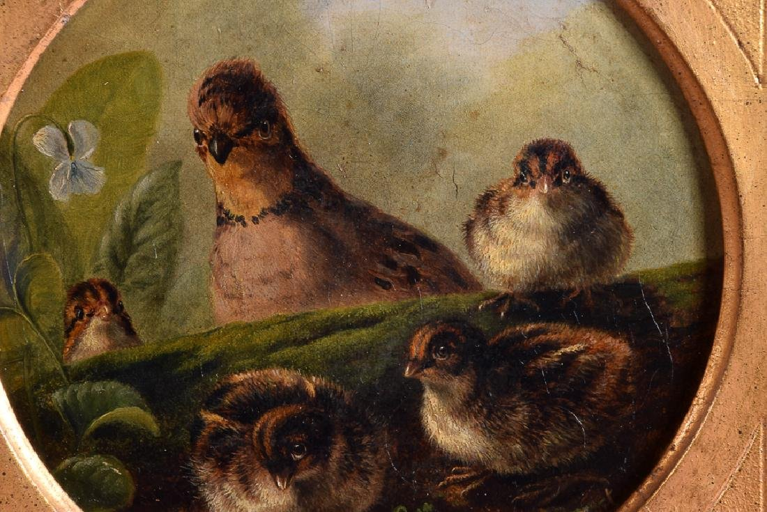 Arthur F. TAIT (1819-1905) vintage oil on panel birds - 2