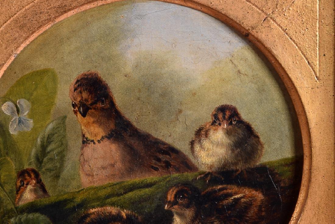 Arthur F. TAIT (1819-1905) vintage oil on panel birds - 4