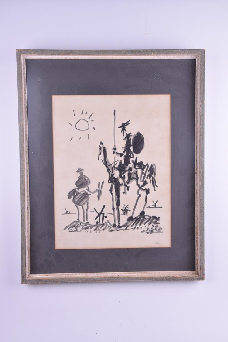 Pablo PICASSO (1881 - 1973) - Untitled (Quixote)