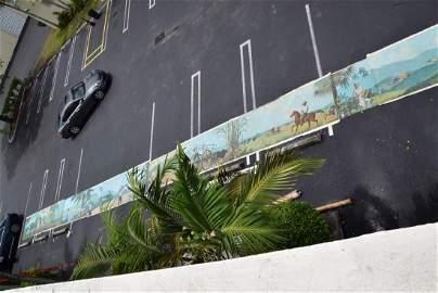 Evelio Garcia Mata mural fresco Cuban landscape