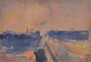 John Singer SARGENT (1856-1925) - Untitled (Landscape)