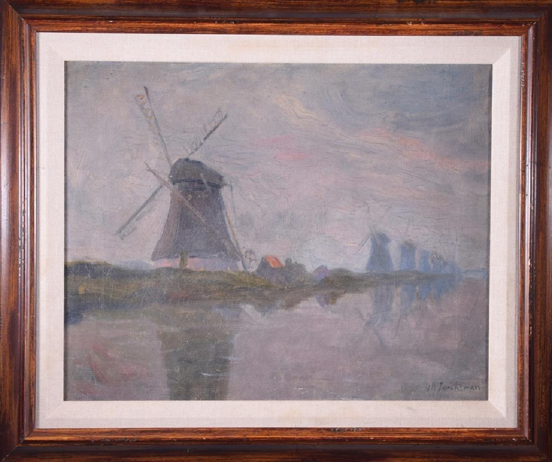 John Henry TWACHTMAN (1853-1902) - Windmills