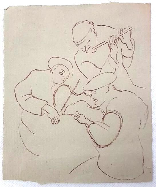 Honoré DAUMIER (Attrib.) (1808-1879)Sketch