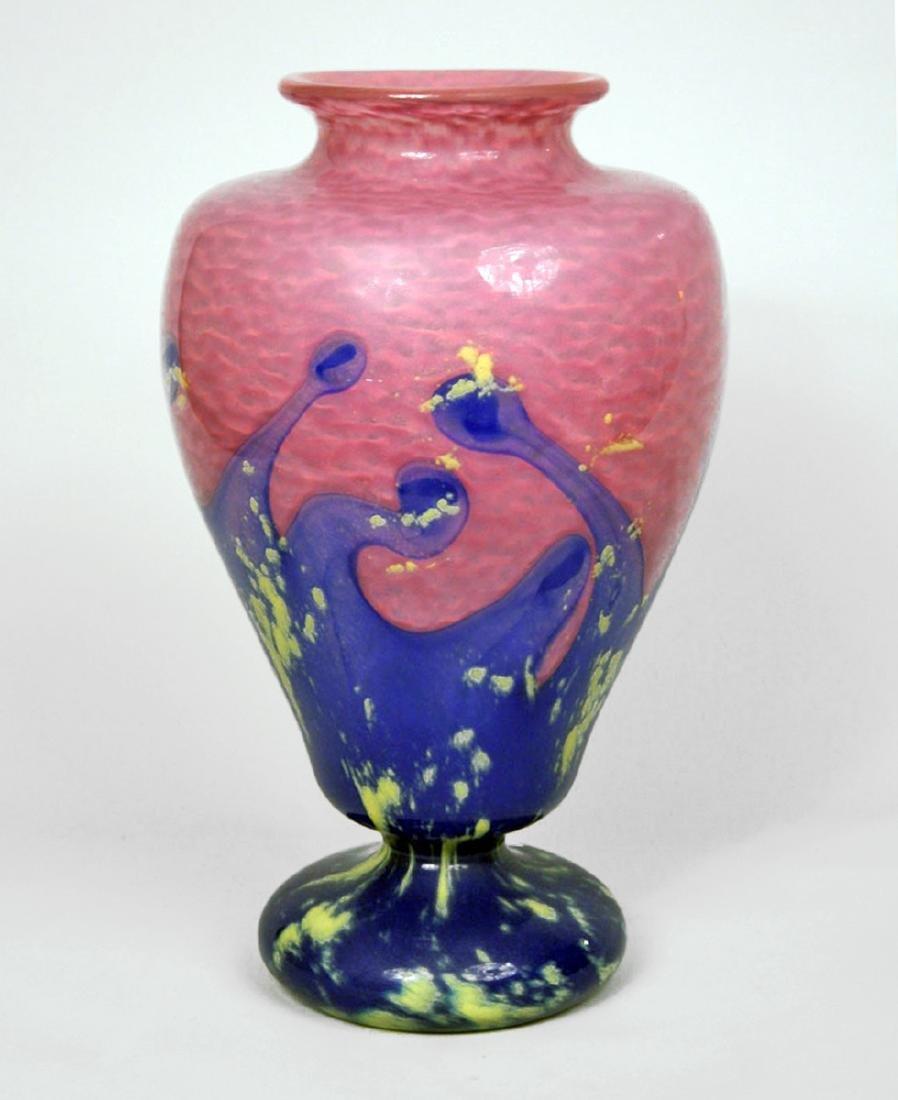SCHNEIDER, CHARLES ((1881-1952)) PINK AND BLUE GLASS