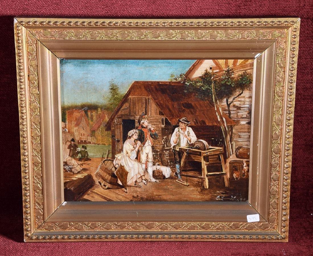 Rare vintage oil on canvas same artist as previous lot