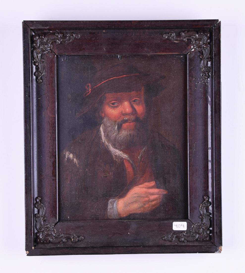 Old Master antique oil on panel portray of a man
