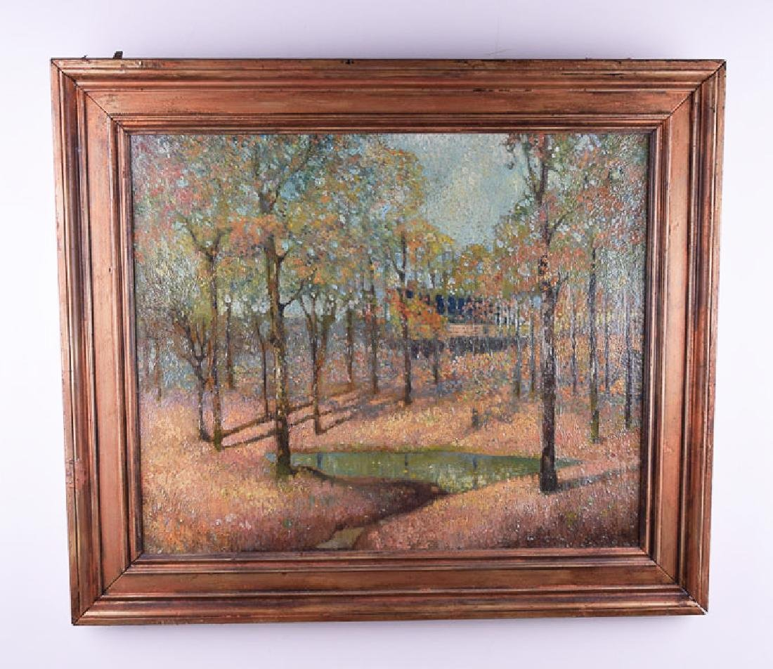 Edwin Ward vintage oil on canvas landscape